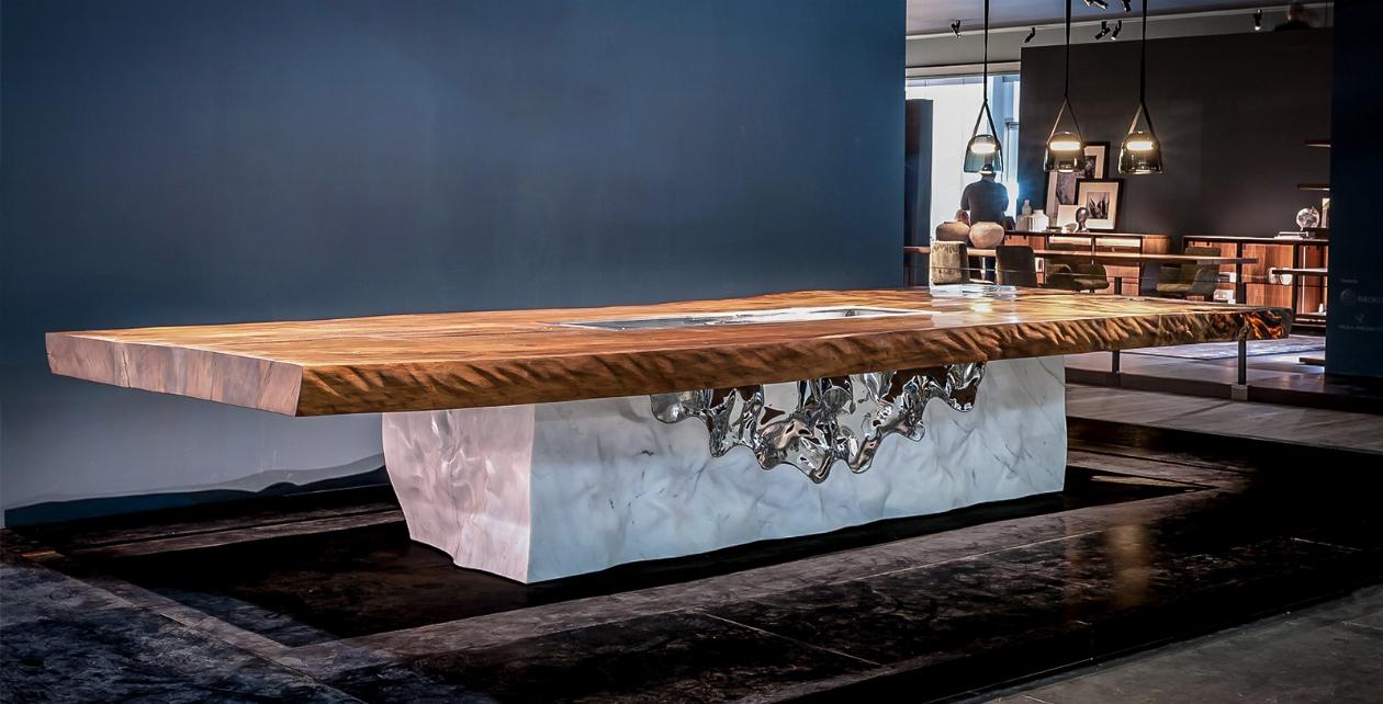 Tavolo Legno E Resina Prezzo timeless: il tavolo delle 12 eccellenze - salone del mobile